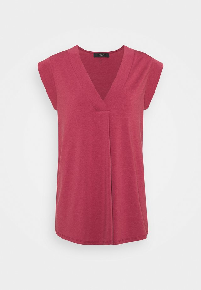 MULTIC - T-shirt basic - dunkelmauve