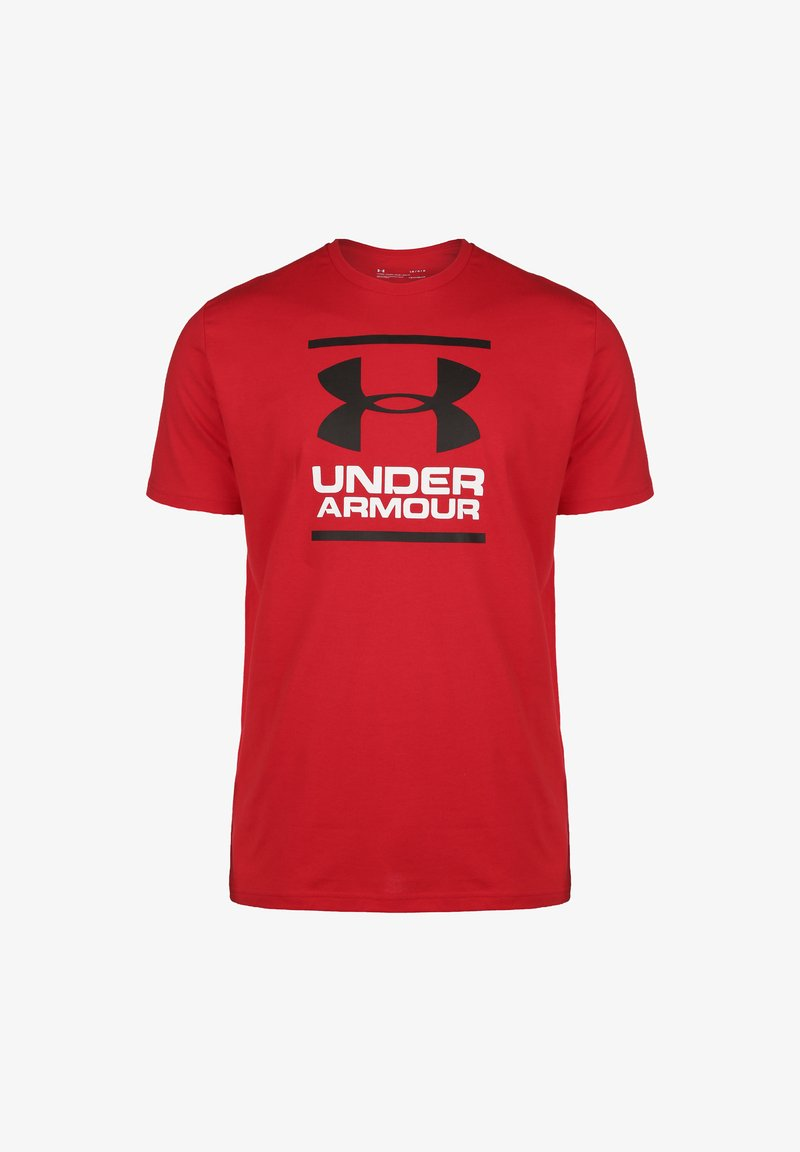 Under Armour - FOUNDATION  - Print T-shirt - red / white