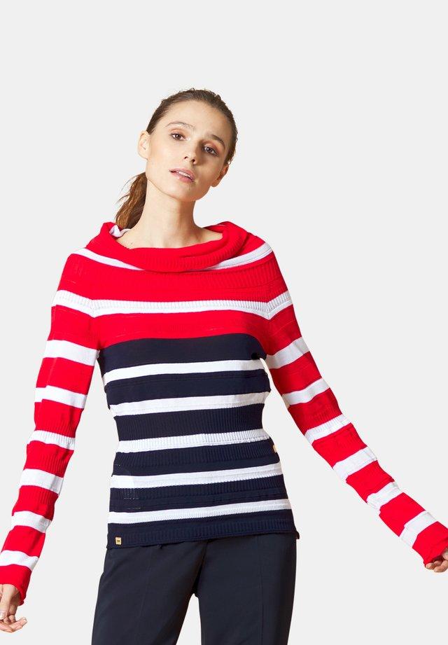 Maglione - bianco-rosso-blu