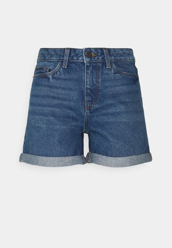 NMSMILEY SHORTS PETIT - Shorts di jeans - medium blue denim