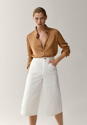 Button-down blouse - gold