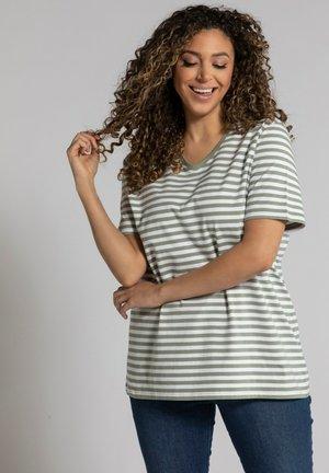 Print T-shirt - mattes oliv