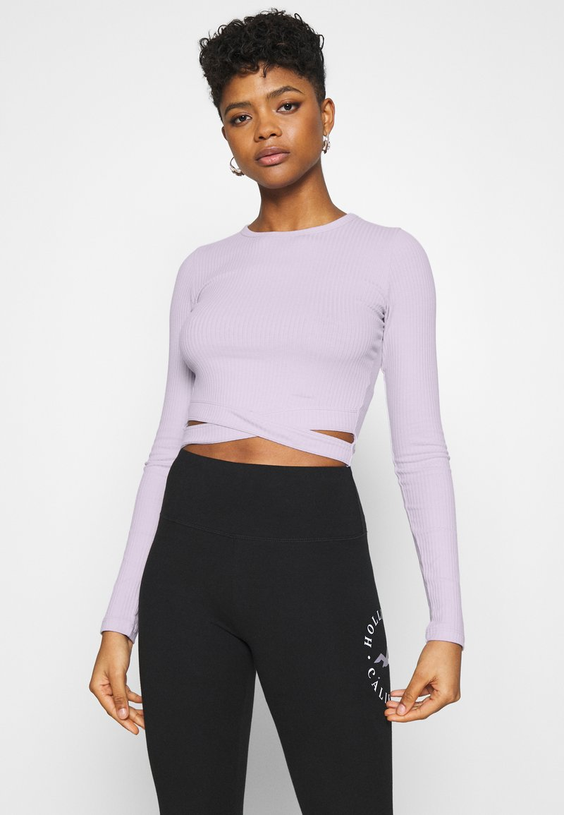 Hollister Co. - ULTRA CROP CUT OUT - Long sleeved top - orchid petal