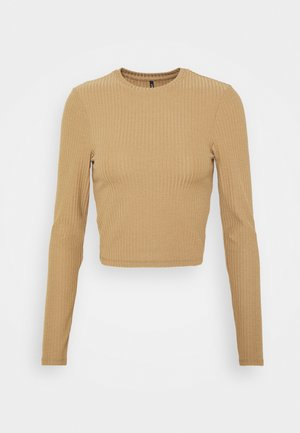 ONLNELLA CROPPED O NECK  - T-shirt à manches longues - toasted coconut