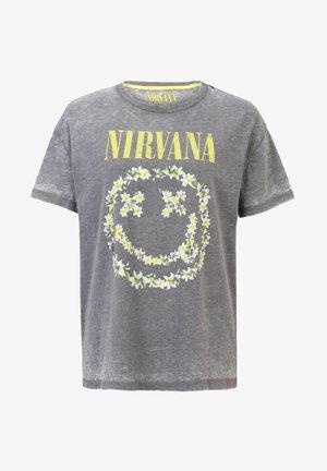 NIRVANA DAMEN BAND-MERCH OVERSIZED LOGO VINTAGE - Print T-shirt - grau