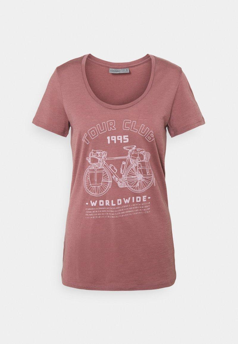 Icebreaker - TECH LITE SCOOP TOUR CLUB 1995 - T-Shirt print - suede