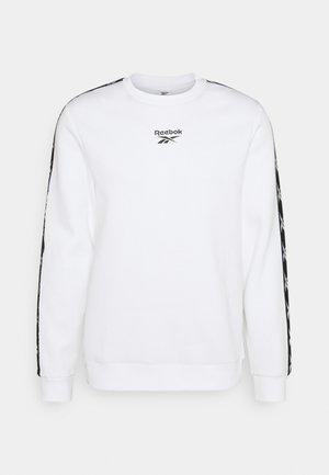 TAPE CREW - Sweatshirt - white/black