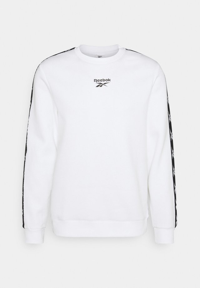TAPE CREW - Sweatshirt - white/black