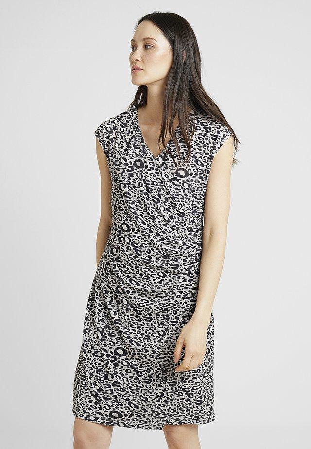 WRAP LEO PRINT DRESS - Day dress - rosé/black