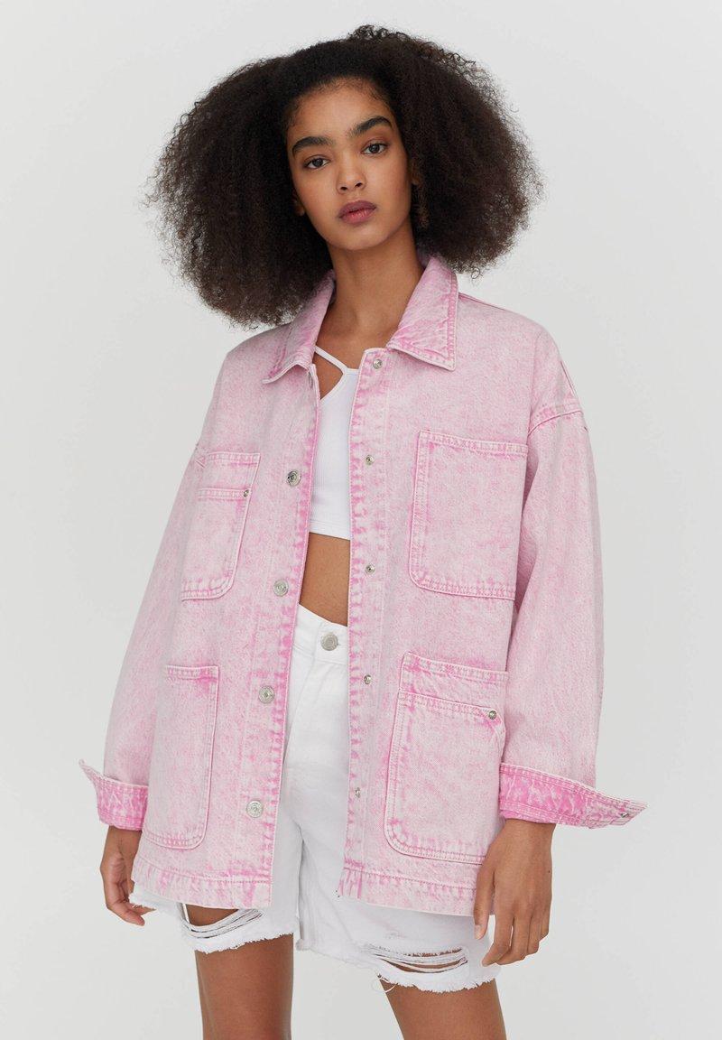 PULL&BEAR - Denim jacket - rose