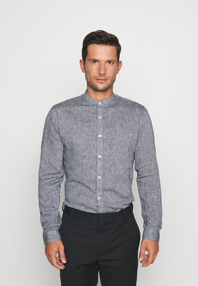 MANDARIN COLLAR SHIRT  - Shirt - dark blue