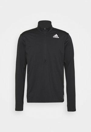 1/2 ZIP - Long sleeved top - black