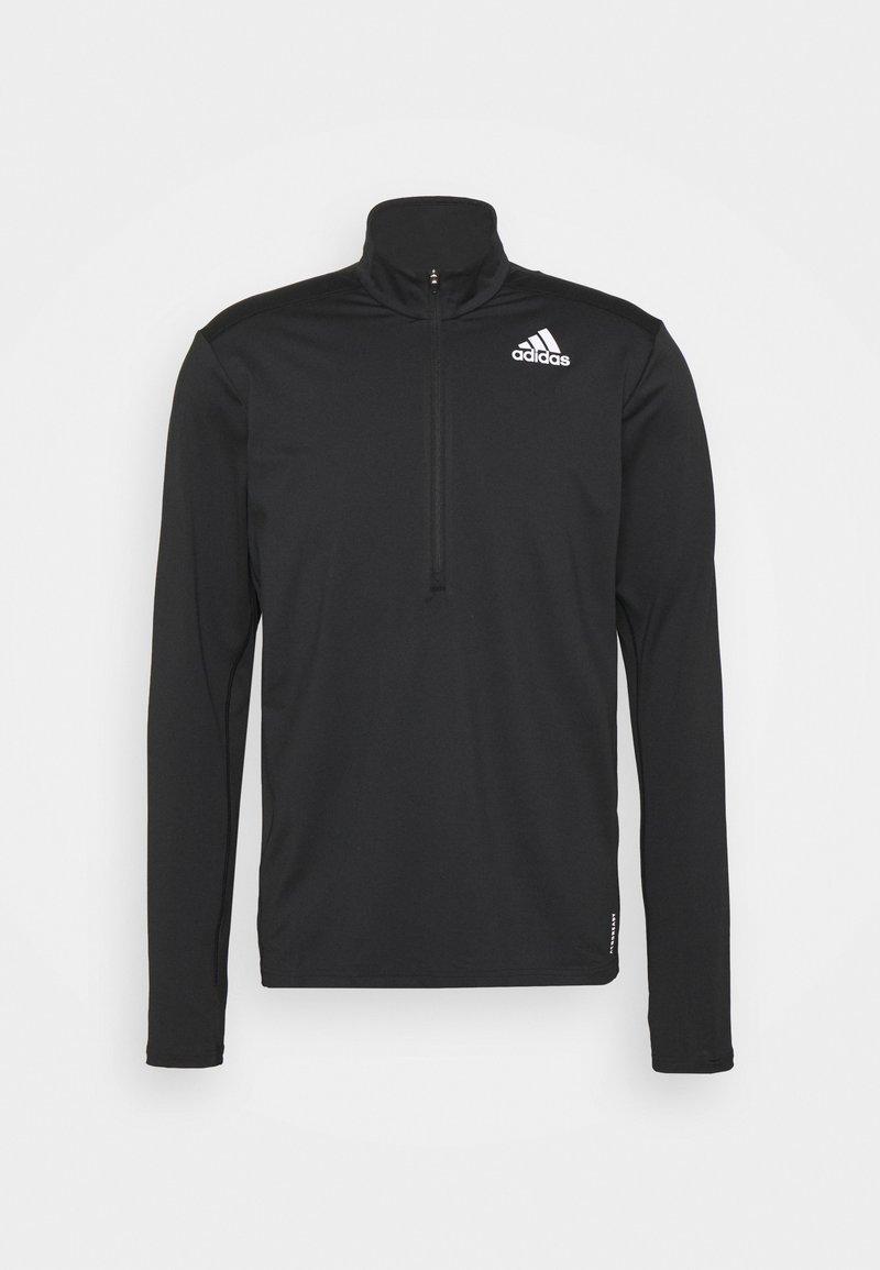 adidas Performance - 1/2 ZIP - Camiseta de manga larga - black