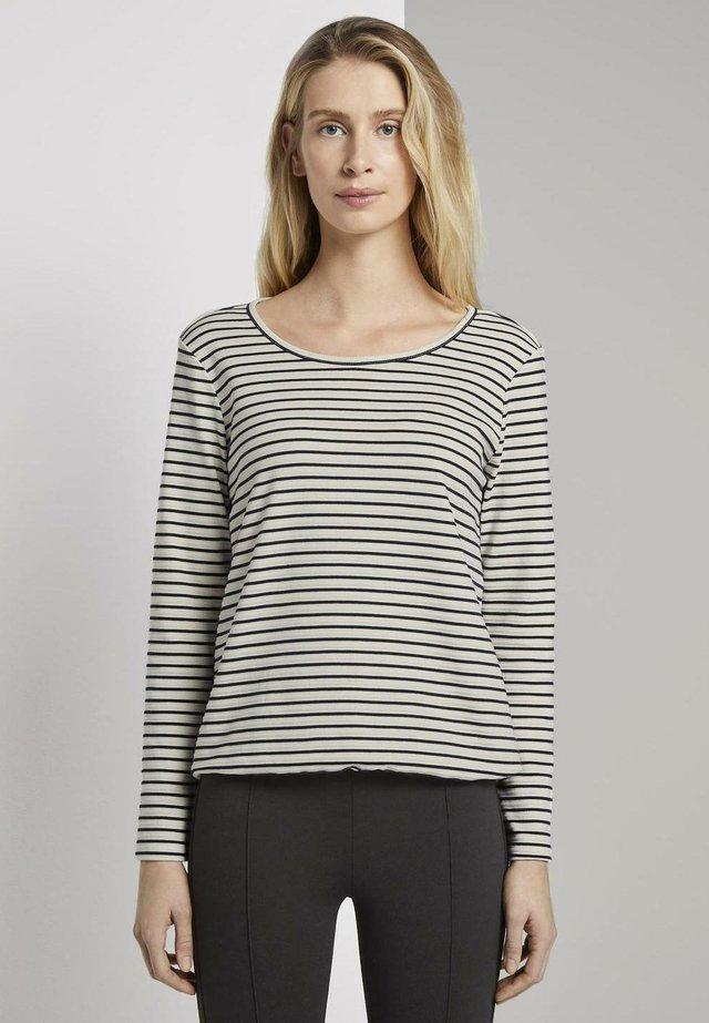 Camiseta de manga larga - offwhite/navy