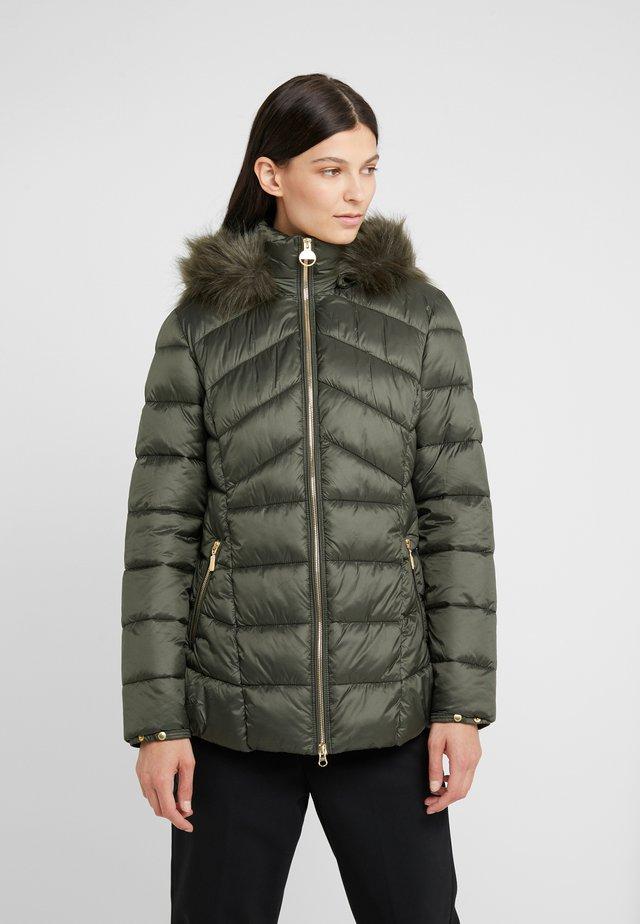 HAMPTON QUILT - Zimní kabát - moto green