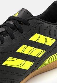 adidas Performance - COPA SENSE 4  - Indoor football boots - core black/solar yellow - 5