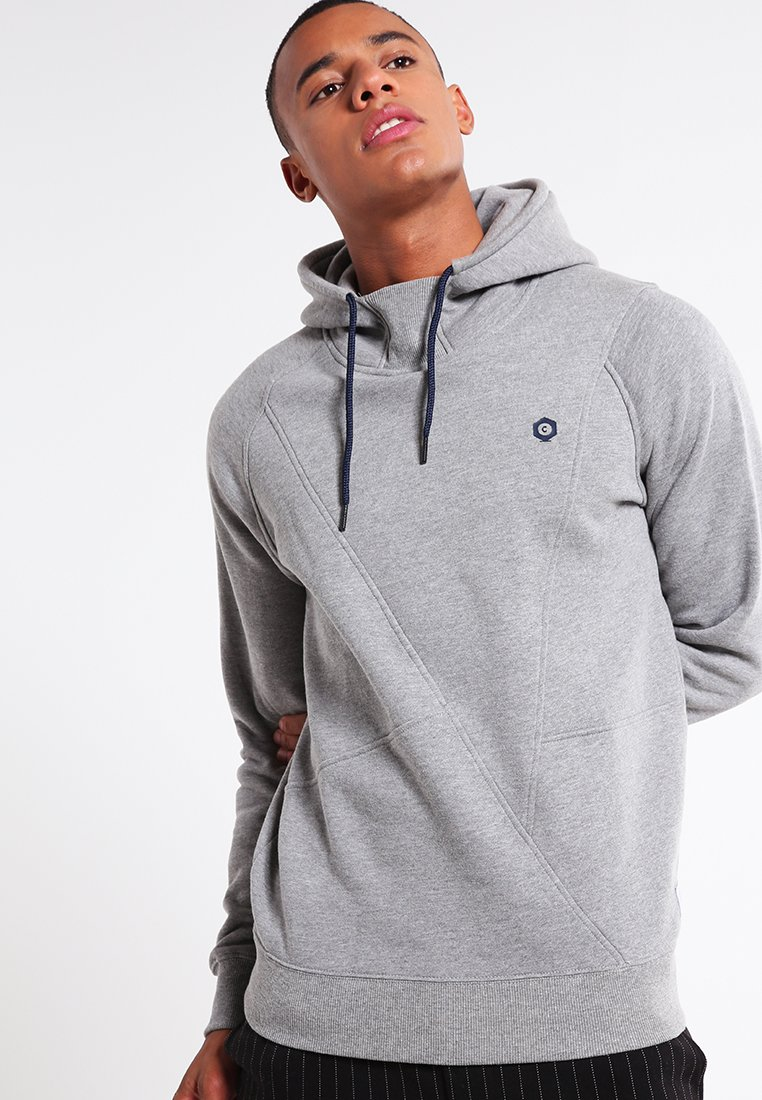 Jack & Jones - JCOPINN HOOD REGULAR FIT - Sweat à capuche - light grey melange