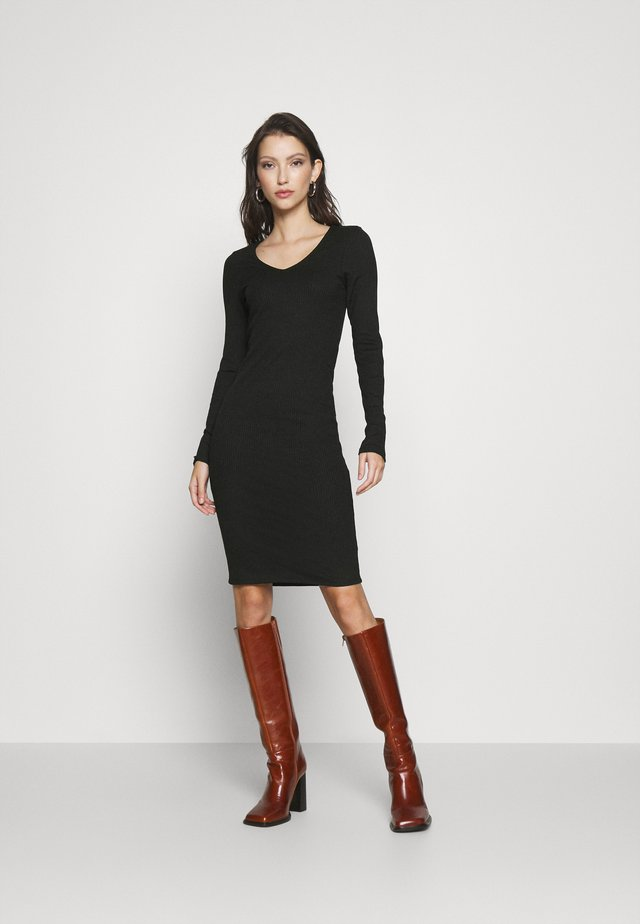 VMPOLLY NECK DRESS  - Shift dress - black