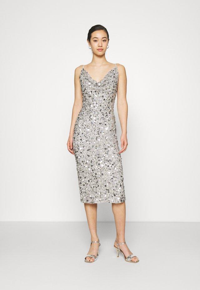 MARITA MIDI - Cocktail dress / Party dress - grey
