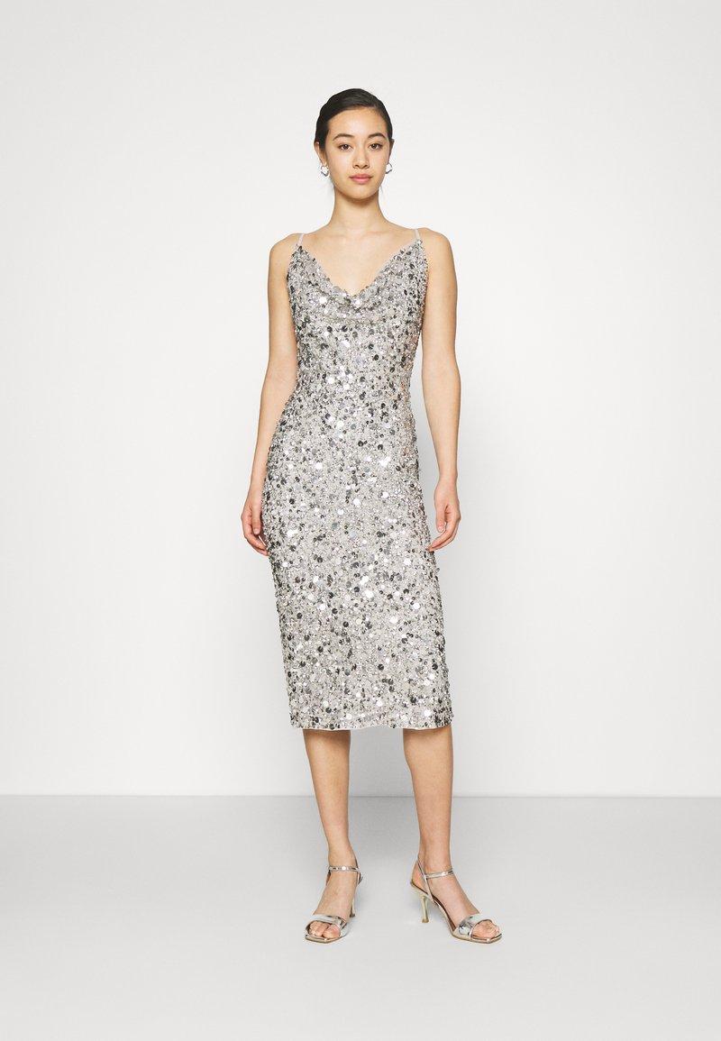 Lace & Beads - MARITA MIDI - Cocktail dress / Party dress - grey