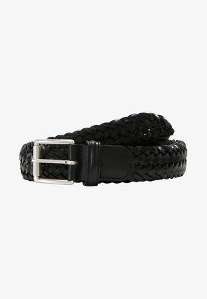 WOVEN BELT - Pletený pásek - black