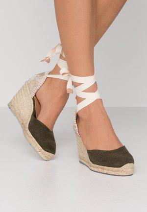 CARINA  - High heeled sandals - verde musgo