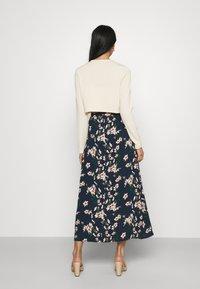 Vero Moda - VMSIMPLY EASY SKIRT - Maxi skirt - navy blazer - 2