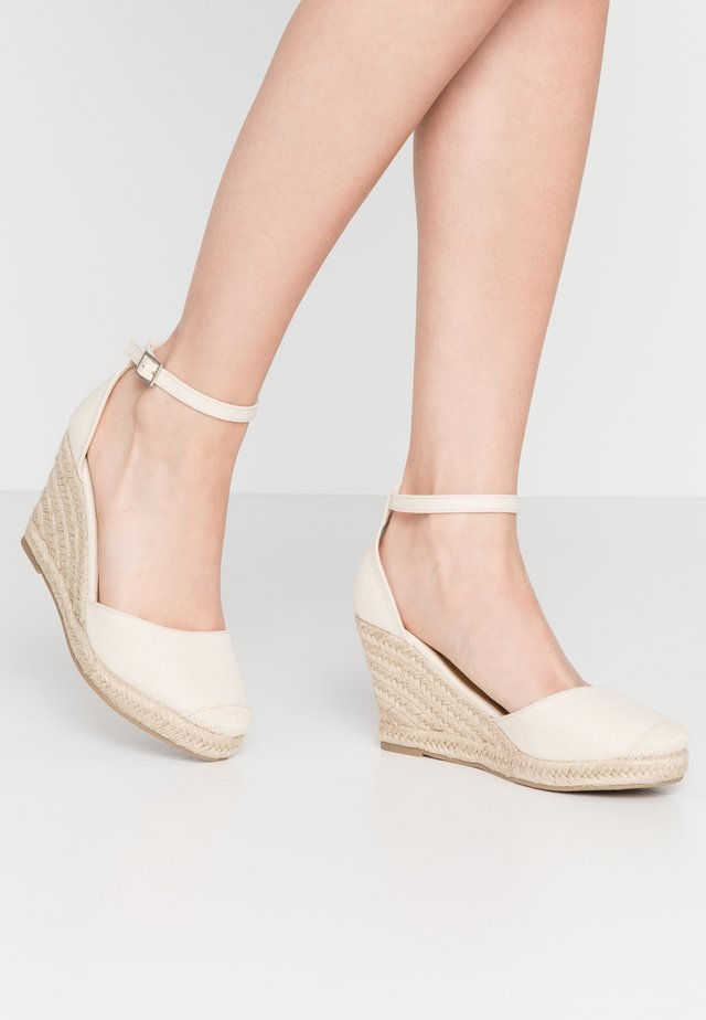 FLORENCE CLOSED TOE  - High heels - stone