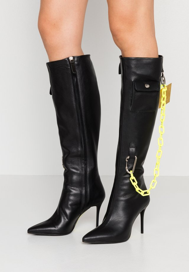 ANTEA - Boots med høye hæler - matrix nero