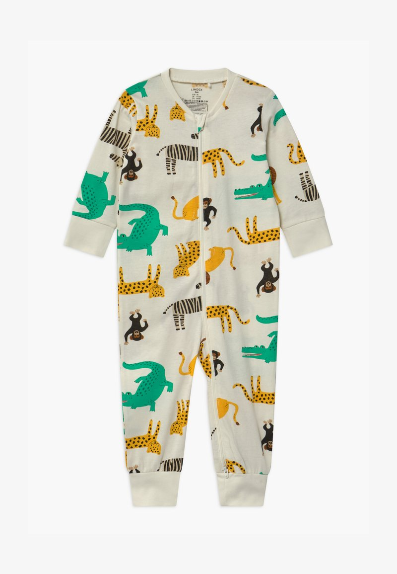 Lindex - MULTI ANIMAL UNISEX - Pyjamas - light dusty white