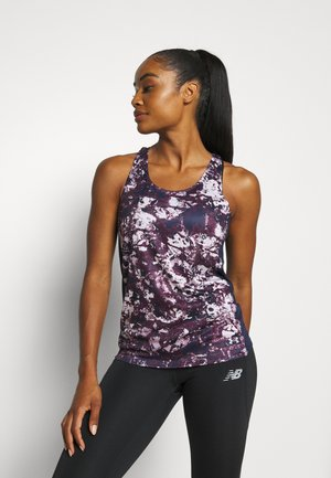 FLY BY PRINTED TANK - Sports shirt - purple