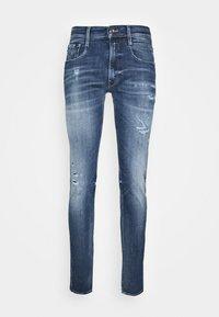 ANBASS AGED - Jean slim - medium blue