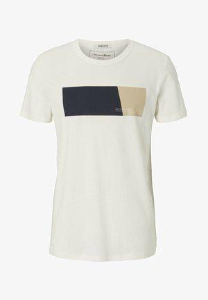MIT PRINT - Print T-shirt - soft light beige