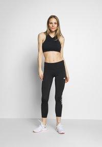 Lotto - VABENE CAPRI - Leggings - all black/bright white - 1
