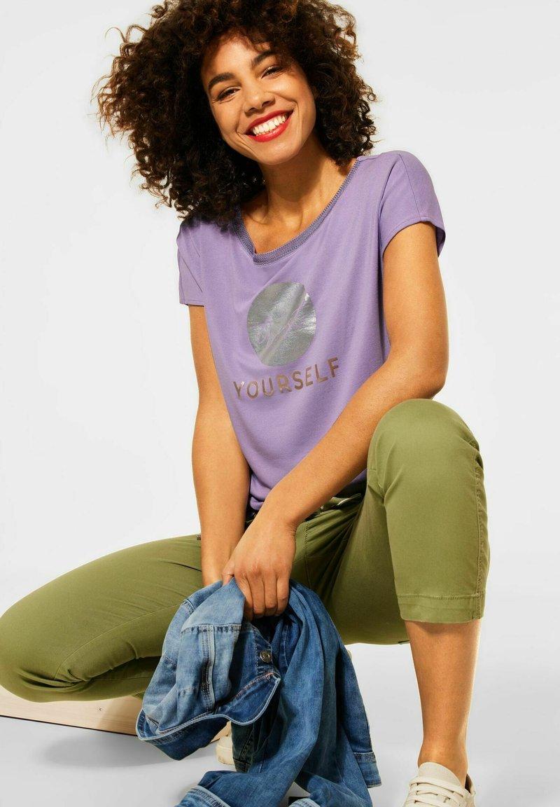 Street One - Print T-shirt - lila