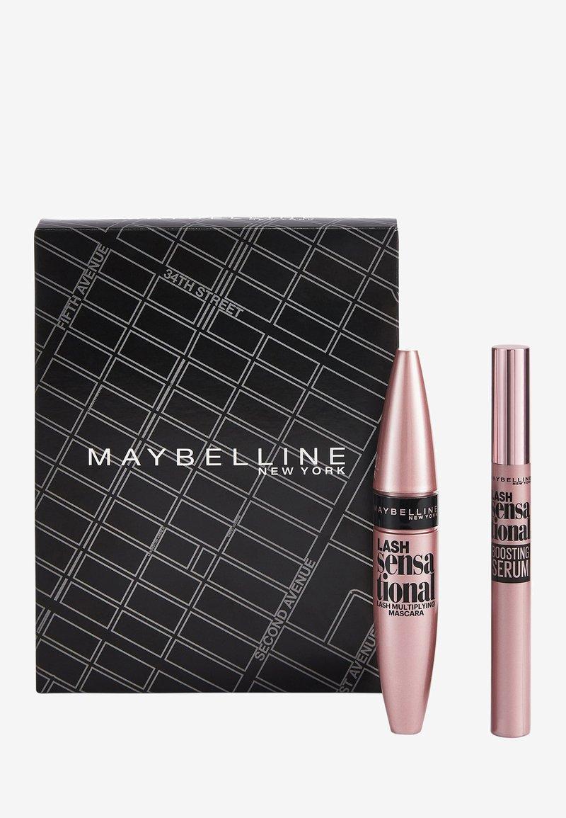 Maybelline New York - LASH SENSATIONAL ROUTINE MAKE-UP SET - Makeup set - matte black