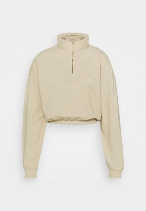 POPPER CROPPED  - Sweatshirt - beige