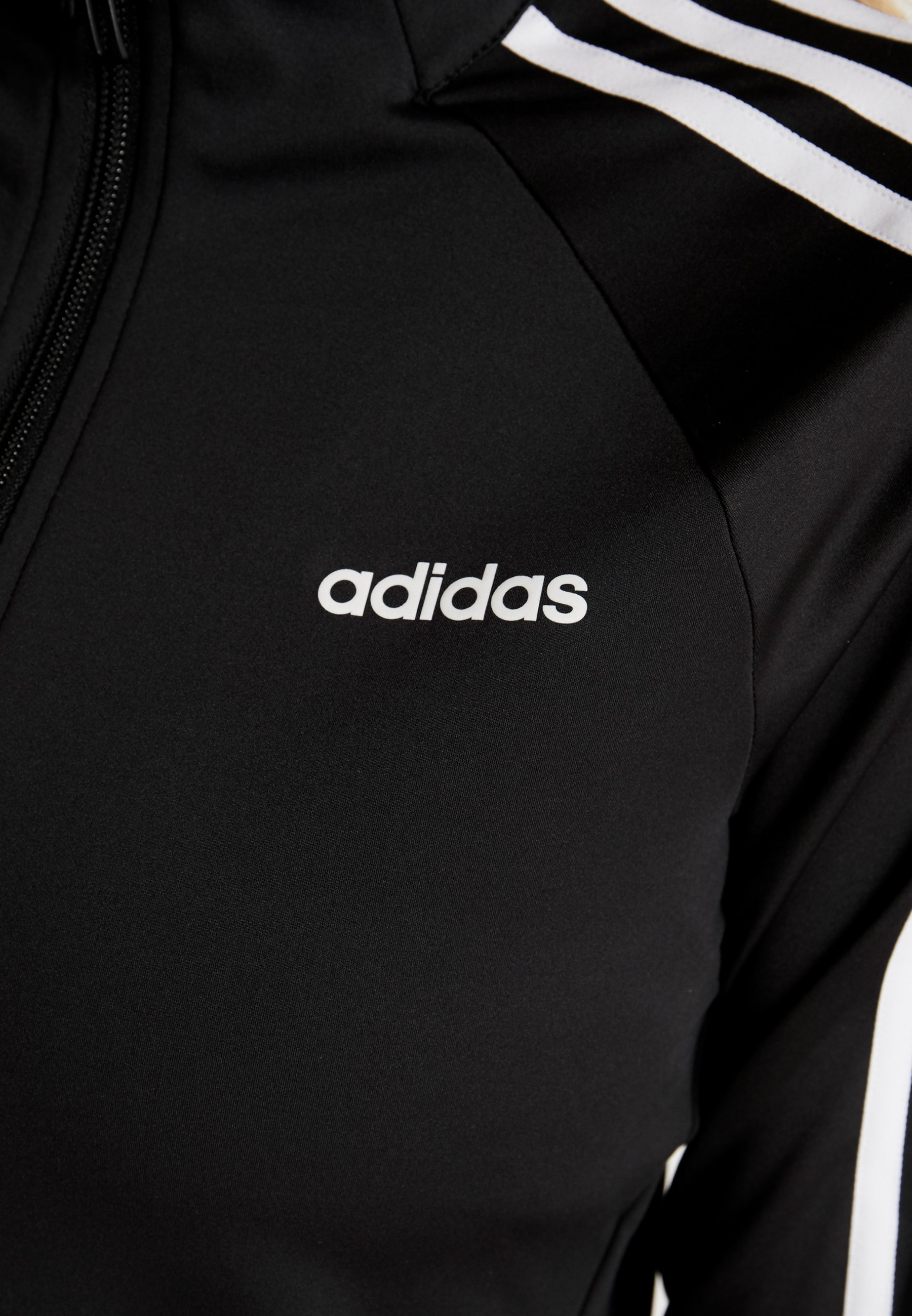 adidas Performance 3STRIPES DESIGNED2MOVE SPORT TRACK TOP - Training jacket - black/white OLTmq