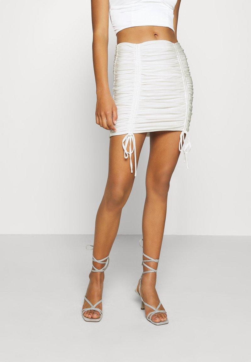 Tiger Mist - ZION SKIRT - Mini skirt - white