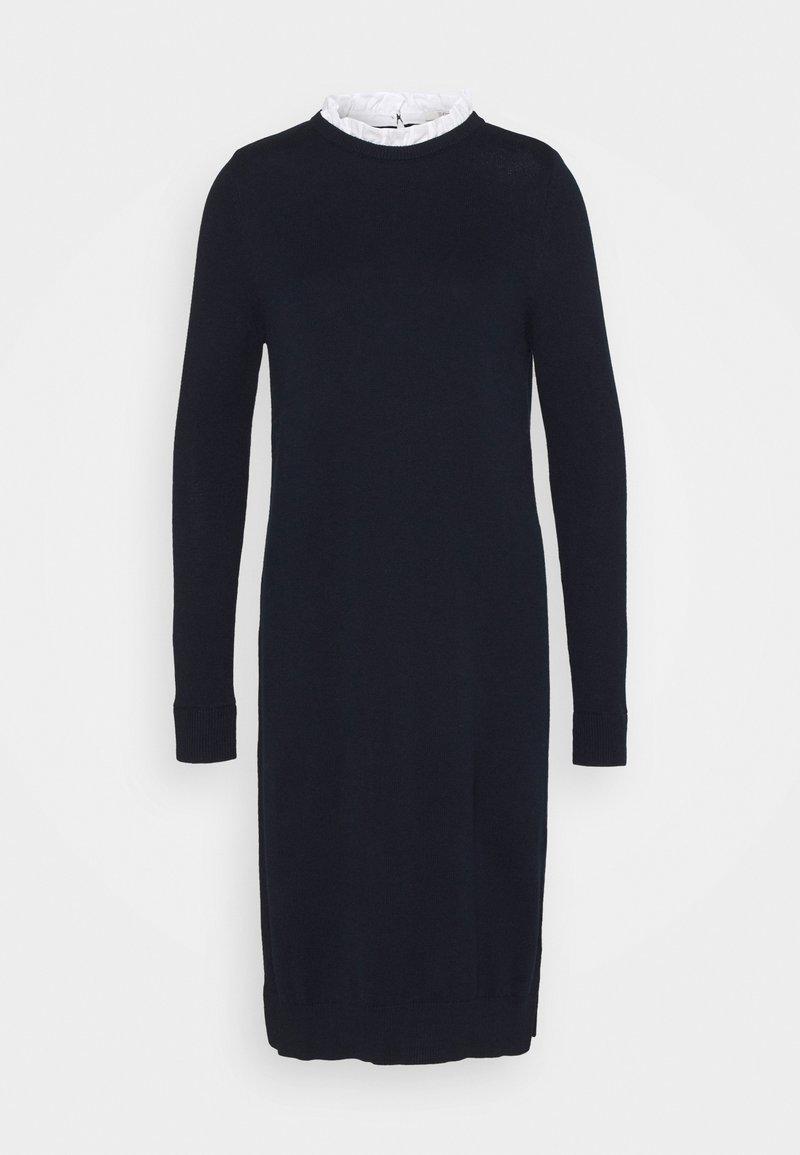 Esprit - FABMIX DRESS - Vestido de punto - navy