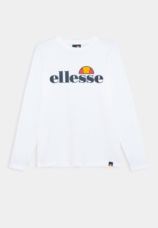 YANDIA UNISEX - T-shirt à manches longues - white