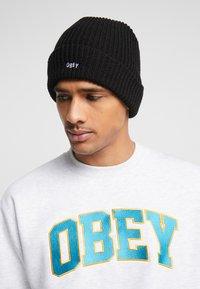 Obey Clothing - JUMBLED BEANIE - Gorro - black - 1