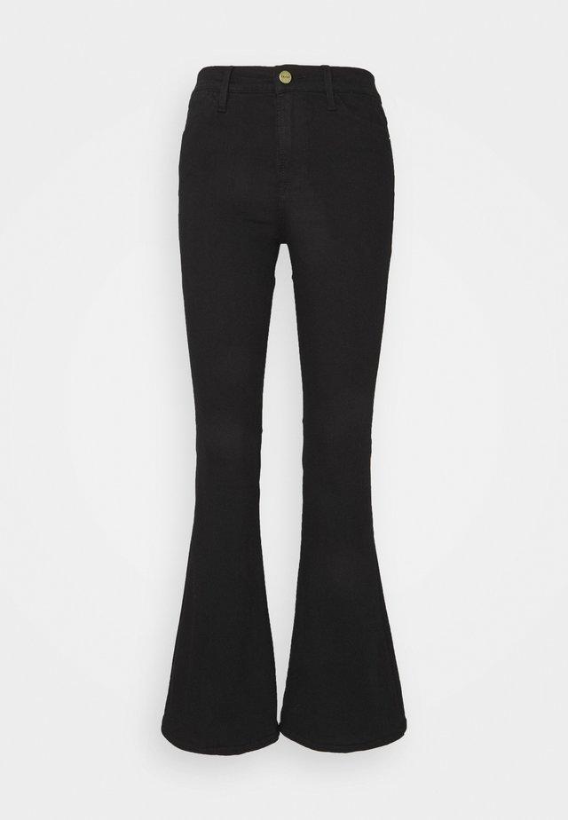 LE PIXIE HIGH FLARE - Flared Jeans - film noir