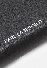 KARL LAGERFELD - IKONIK GRAFF ZIP - Geldbörse - black - 3