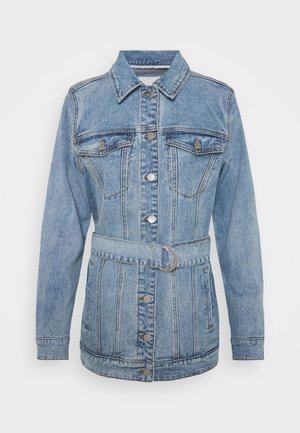 OBJNOELLE JACKET - Džínová bunda - light blue denim