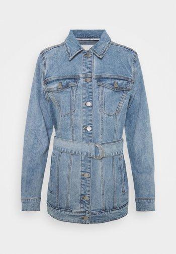OBJNOELLE JACKET - Denim jacket - light blue denim