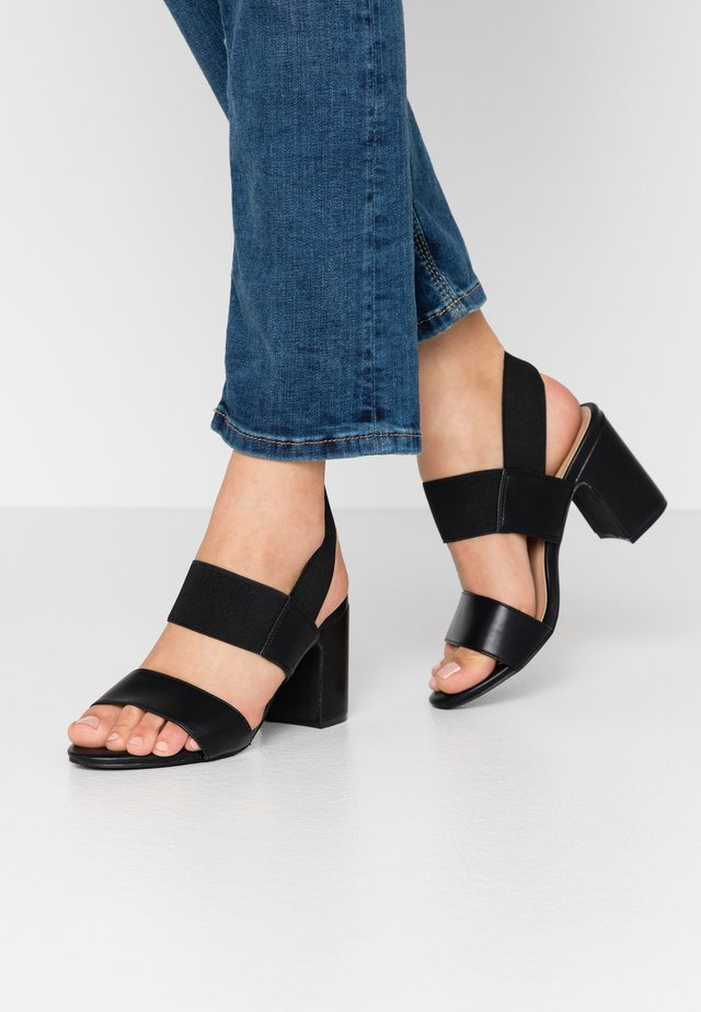 WIDE FIT ROME - Sandals - black