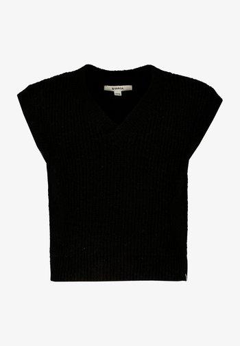 SPENCER - Basic T-shirt - off black