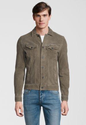 Leather jacket - stone