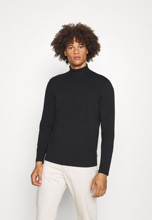 JPRBLASTRETCH ROLL NECK TEE - Bluzka z długim rękawem - black